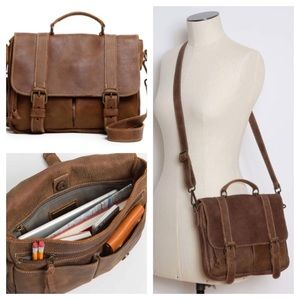 Beautiful leather bag from roots